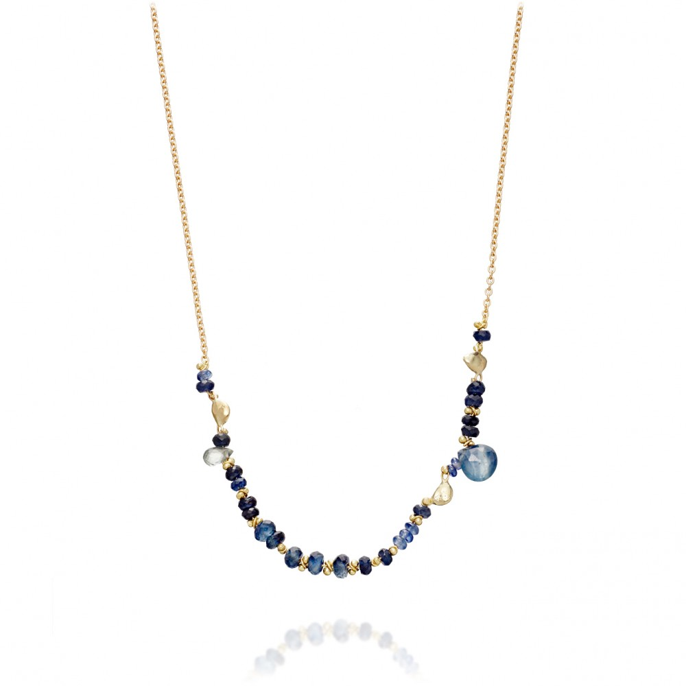 Small Blue Sapphire Story Necklace