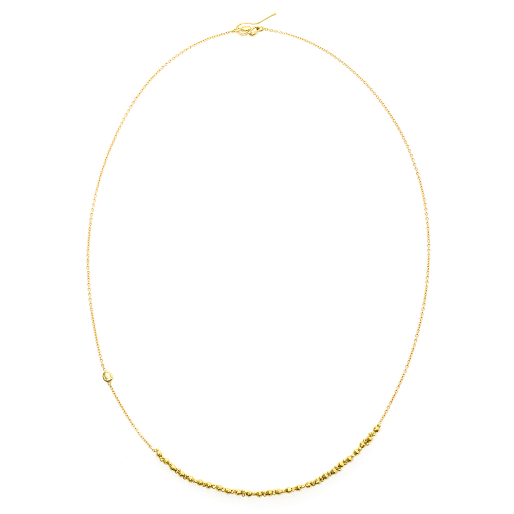 Gold Bead Classic Necklace