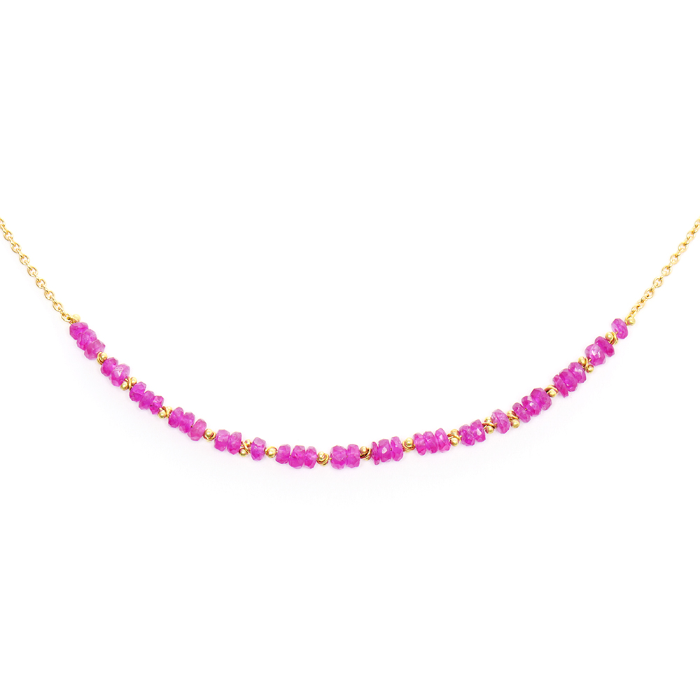 Pink Spinel Classic Necklace