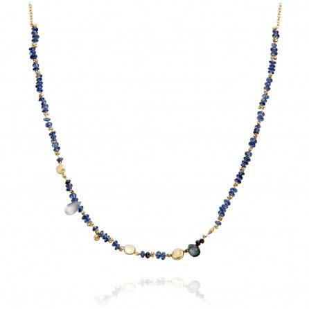 Blue Sapphire Story Necklace