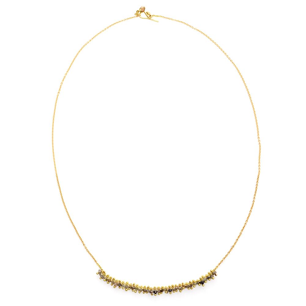 Black & Grey Diamond Necklace