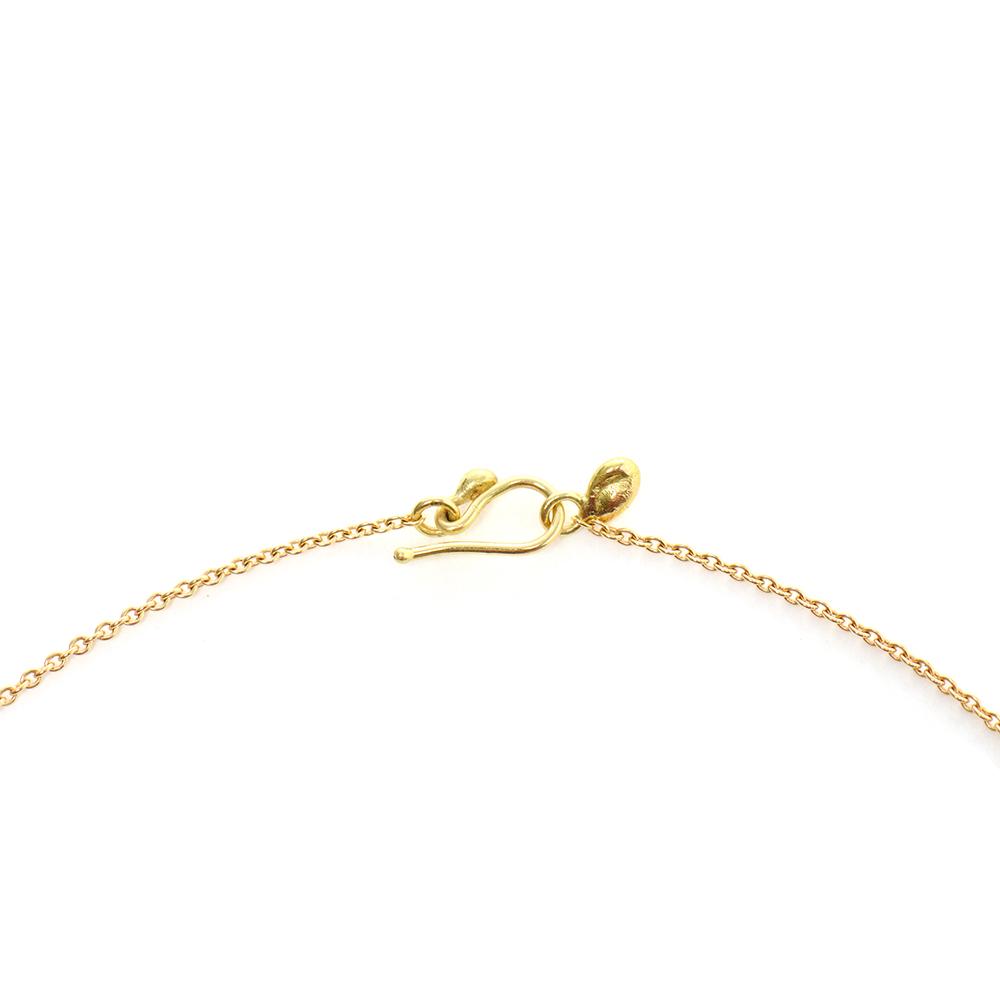 Small Nugget White Diamond Necklace