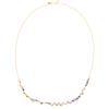 Rock-Fall Pin Blue Sapphire Necklace