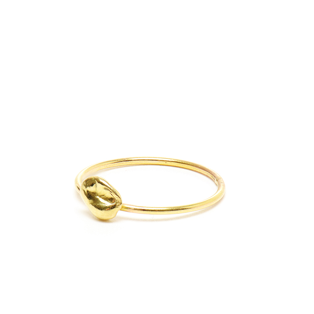 Medium Nugget Plain Stacking Ring