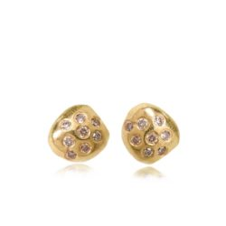 Medium Nugget Brown Diamond Studs
