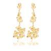 Cobbled White Diamond Earrings