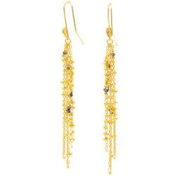 Waterfall Black Diamond Pin Earrings