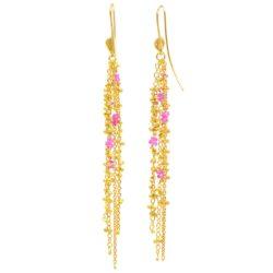Waterfall Pink Spinel Pin Earrings
