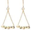 Triangle Nugget Earrings