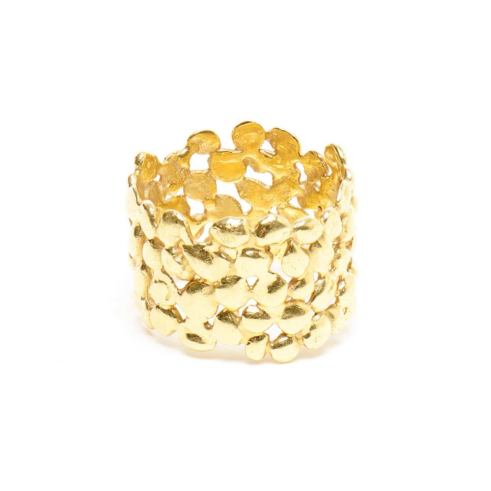 Large Plain Cobbled Ring