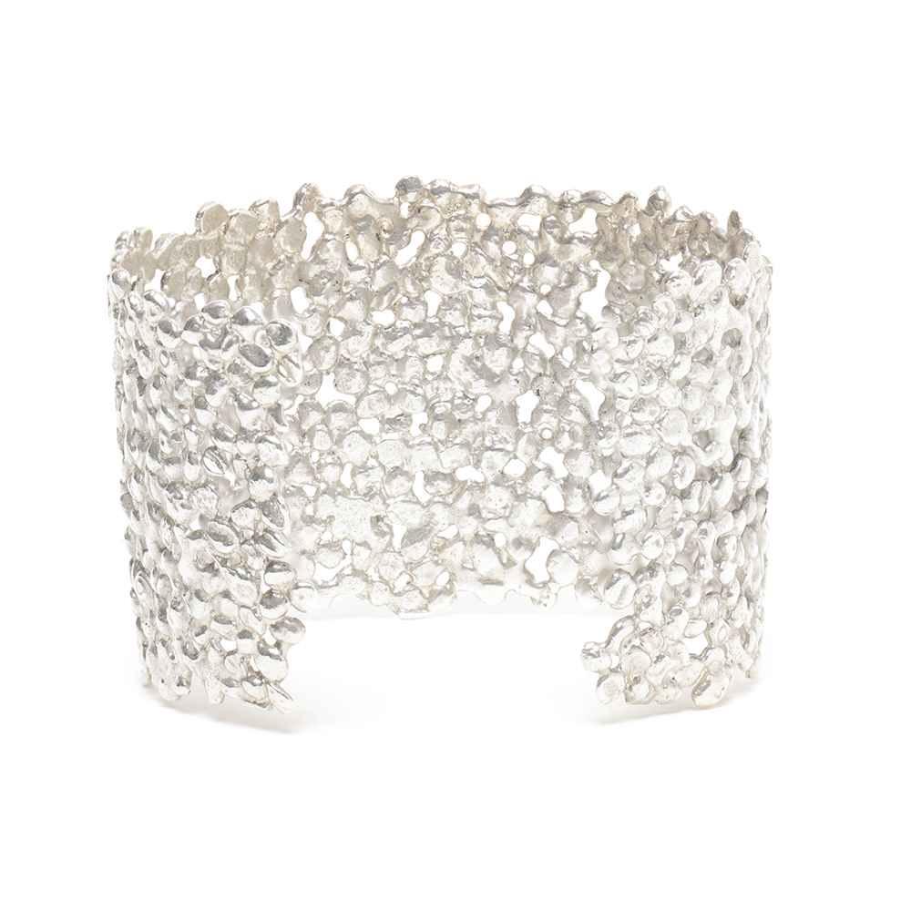 Large Silver Nugget Cuff