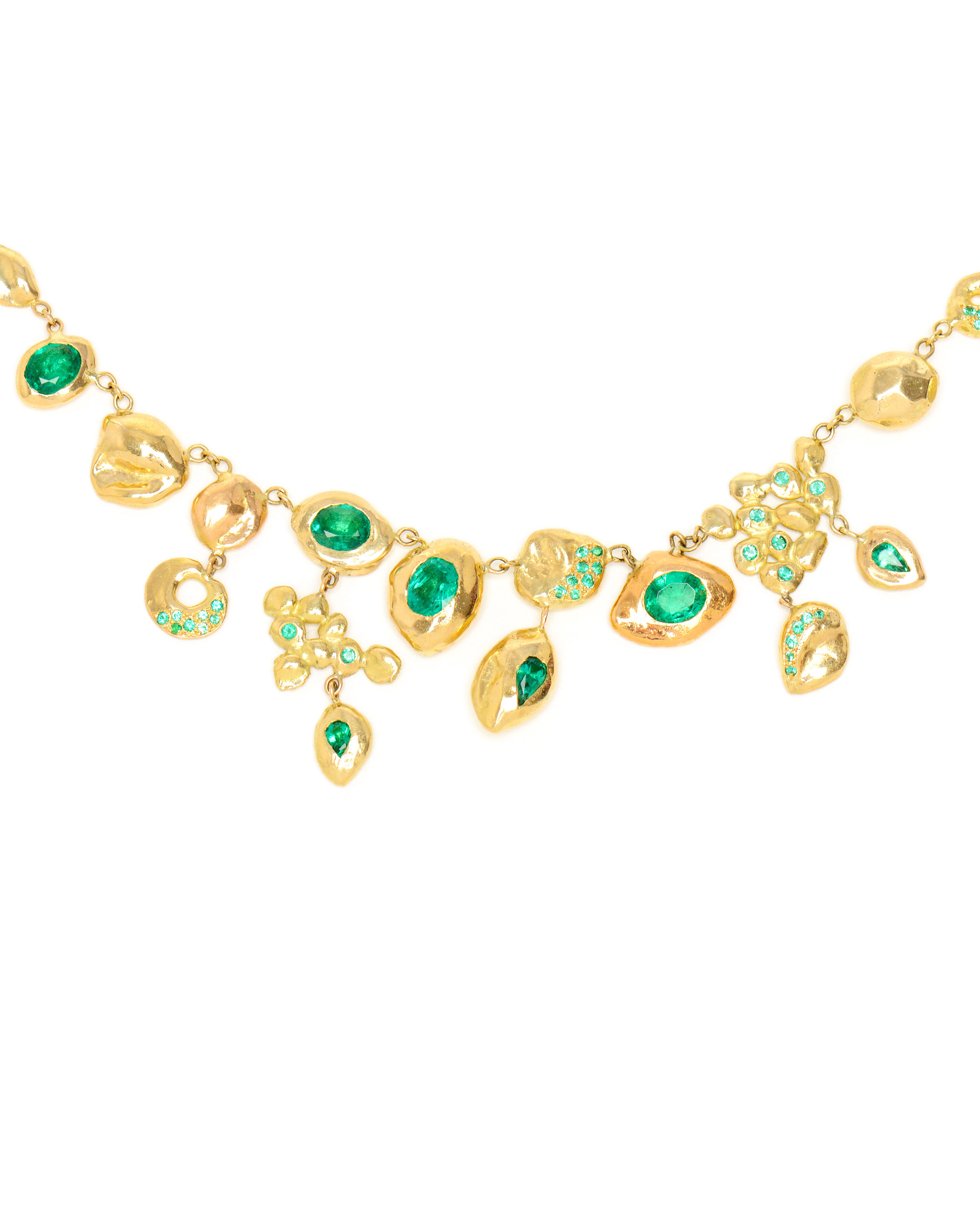 necklace rich yellow diamond emerald diamonds gold product of street bond and