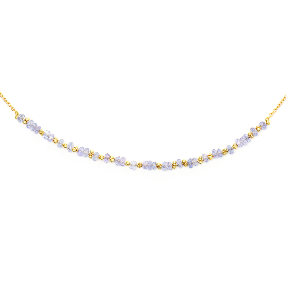 Light Blue Sapphire Classic Necklace