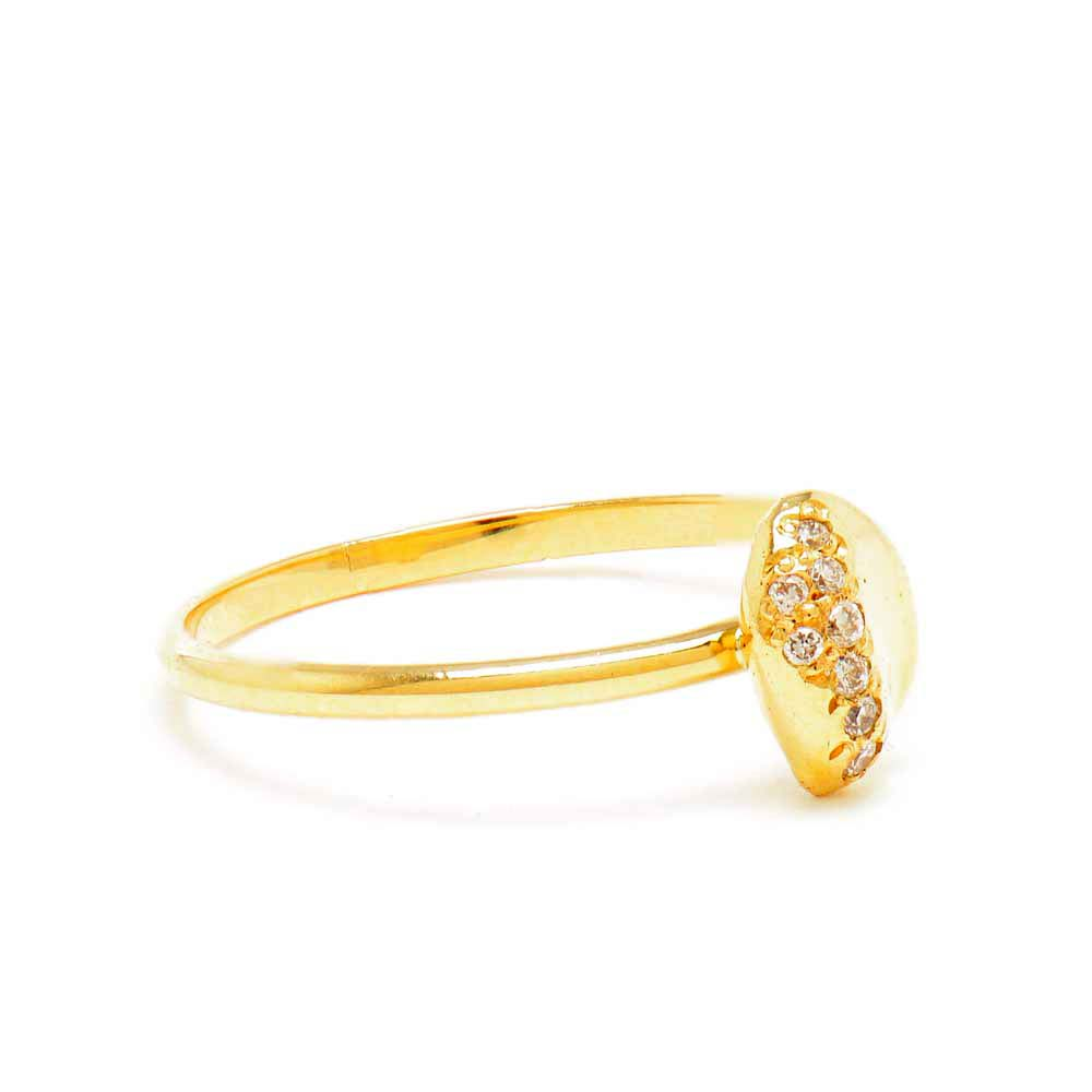 Stacking Medium White Diamond Ring