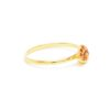 Stacking Medium Peach Sapphire Ring