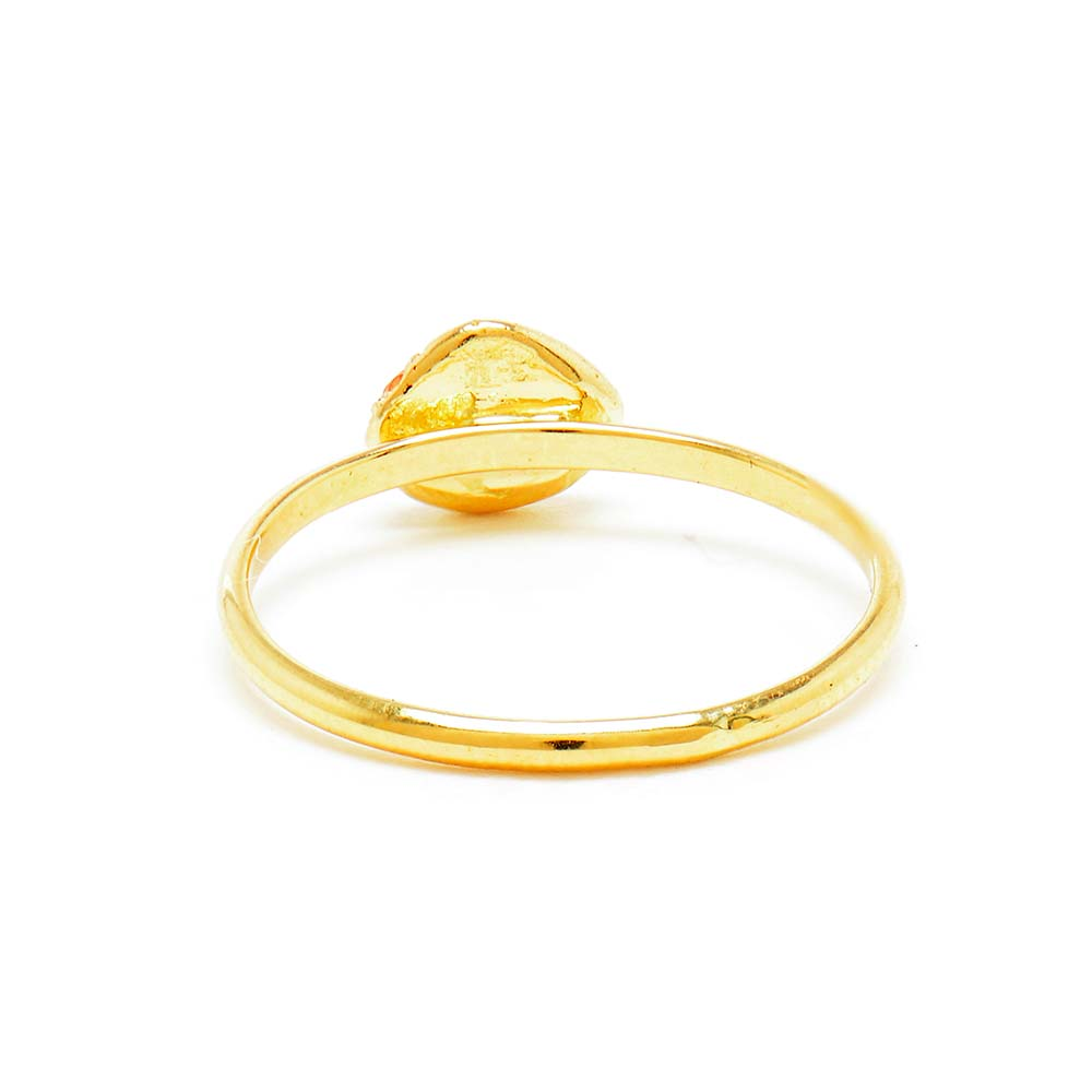 Stacking Medium Peach Sapphire Ring