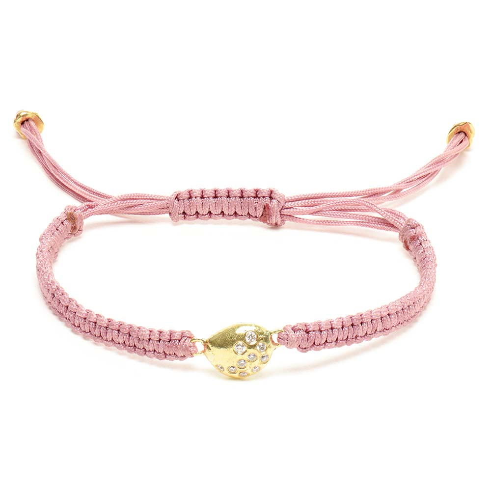 Antique Pink White Diamond Friendship Bracelet