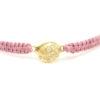 Antique Pink White Diamond Friendship Bracelet