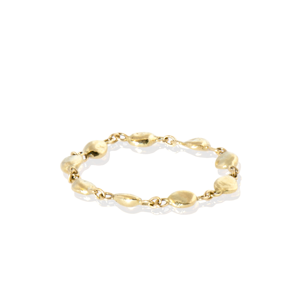 Plain Chain Ring in 18k Yellow Gold