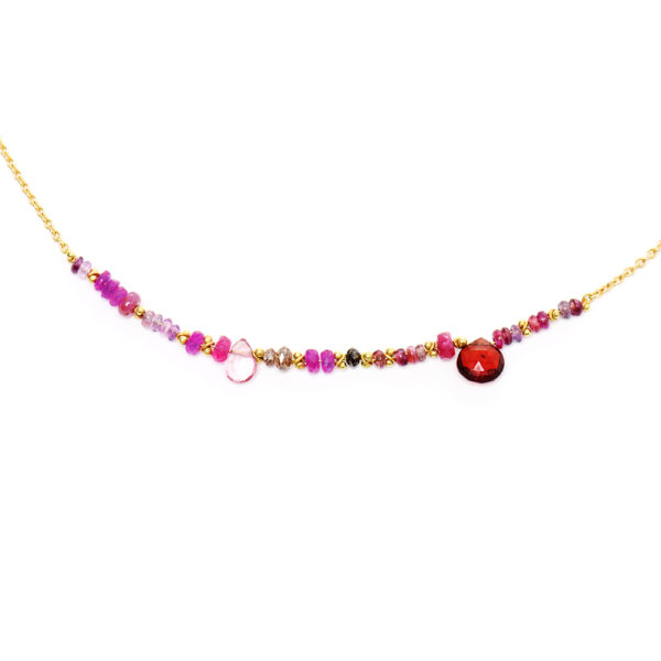 Pink Multi & Black Diamond Necklace