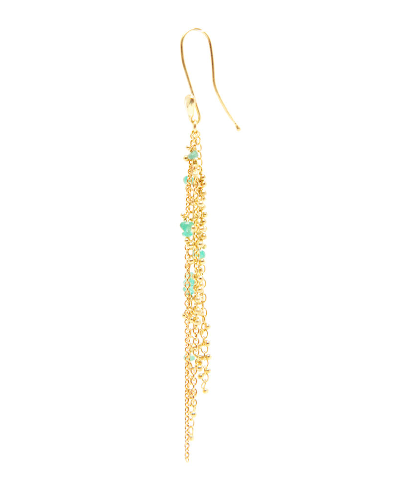 Waterfall Emerald Pin Earrings