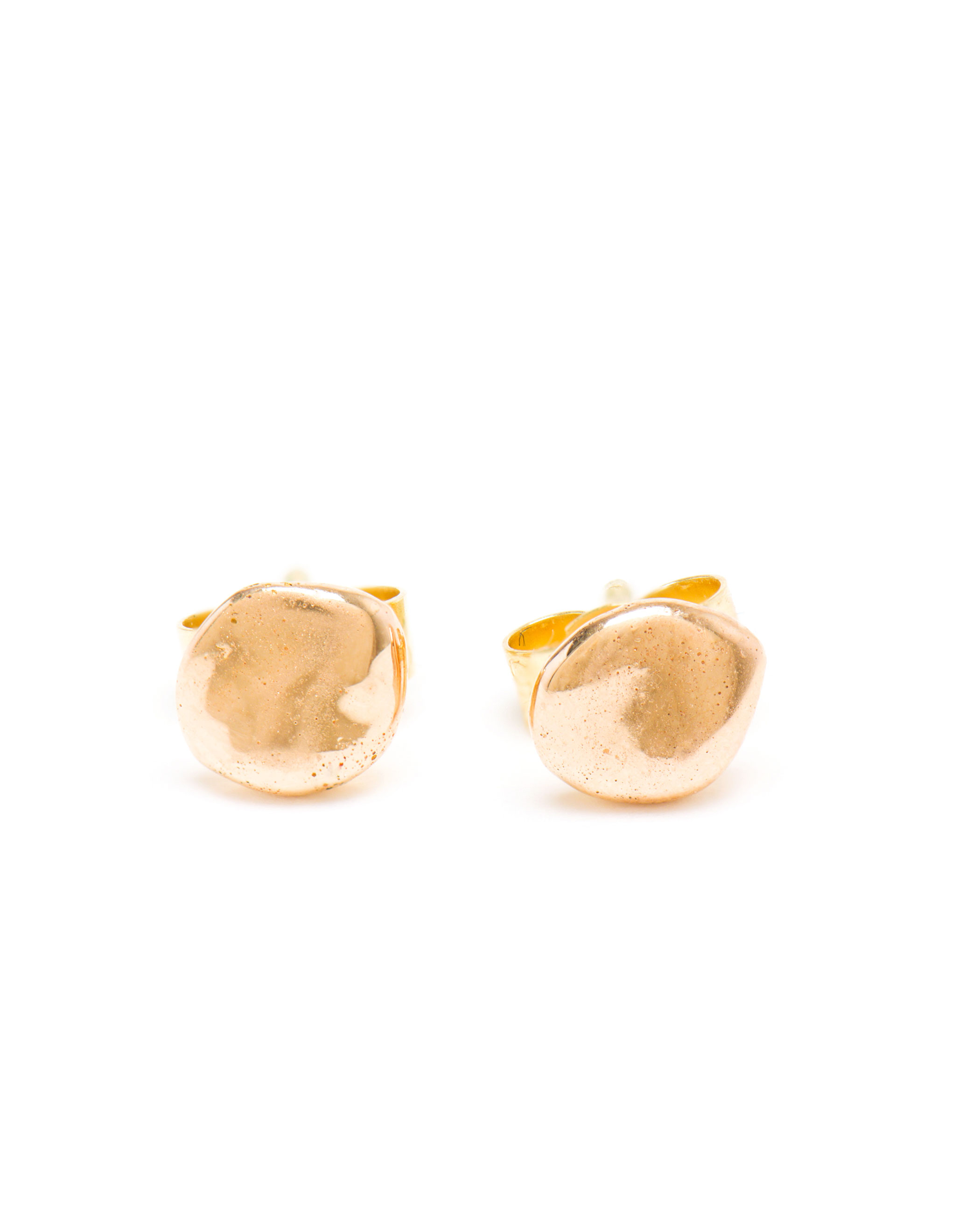 Large Nugget Plain Studs in Rose Gold