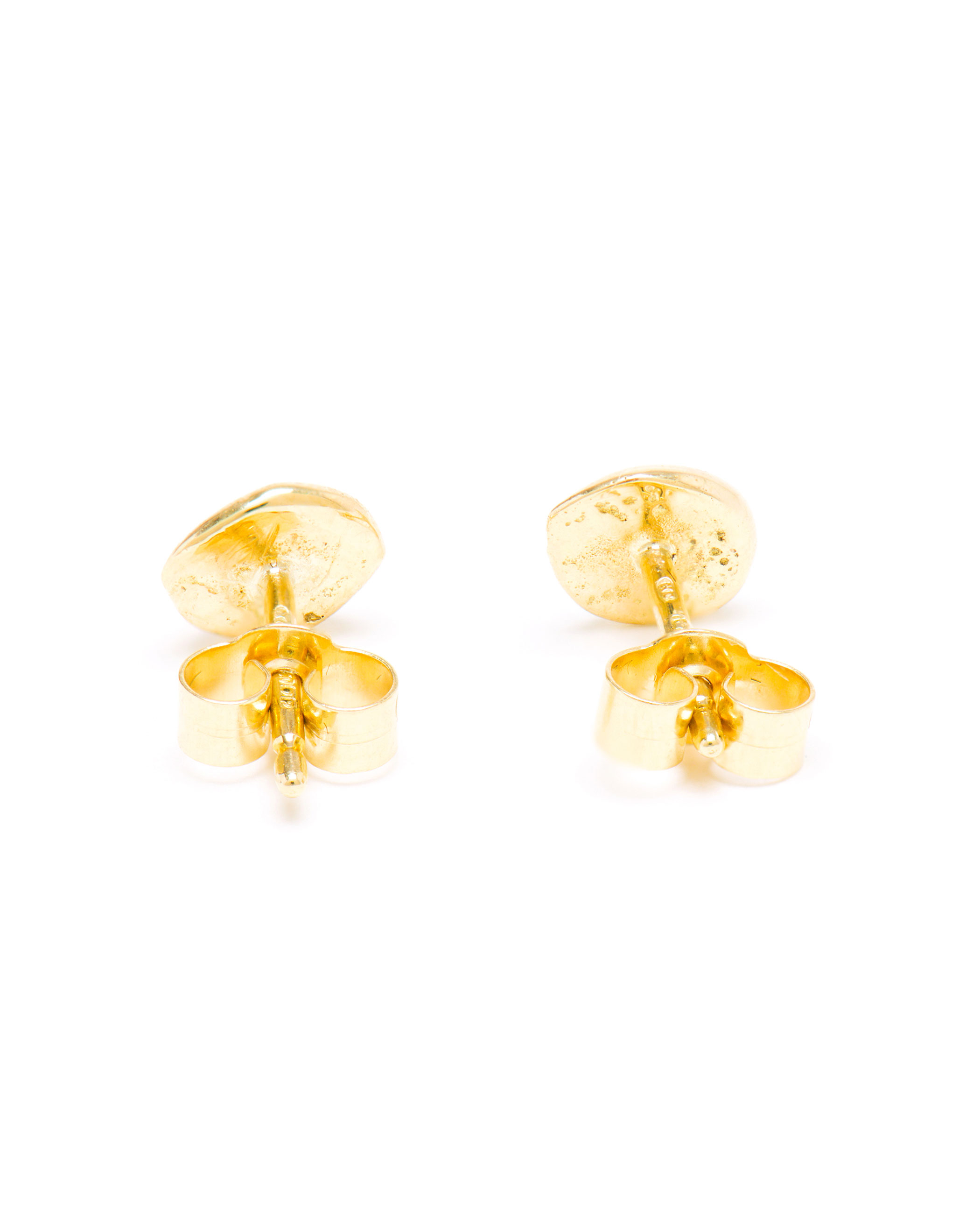 Large Nugget Studs with Diamonds