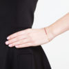 Precious Pink Spinel & Grey Diamond Nugget Bracelet