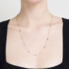 Black & Grey Diamond Nugget Single Chain Necklace