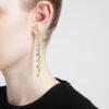 Shower Waterfall Black Diamond Earrings