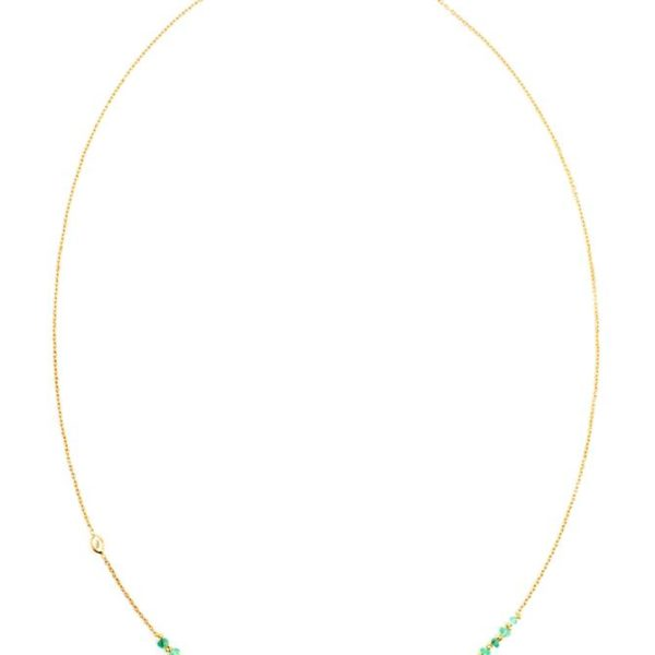 Small Emerald Story Necklace