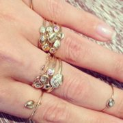 Double Charm Diamond Ring