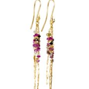 Pink Multi Rod Earrings