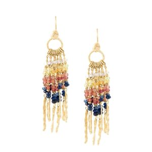 Sunset Sapphire Rod Earrings