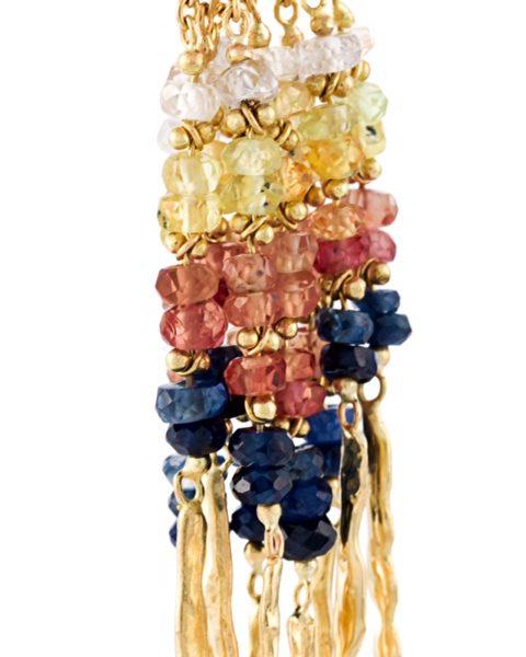 Sunset Sapphire Rod Earrings