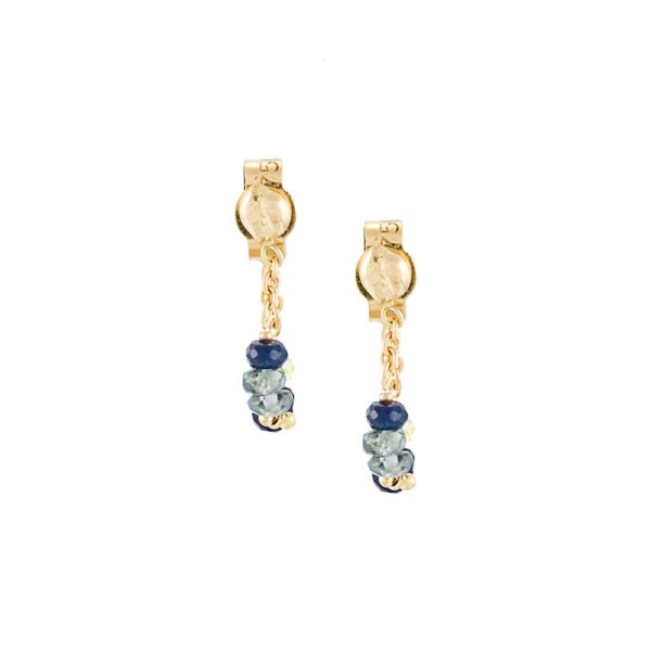 Blue Ombre Loop Chain Earrings