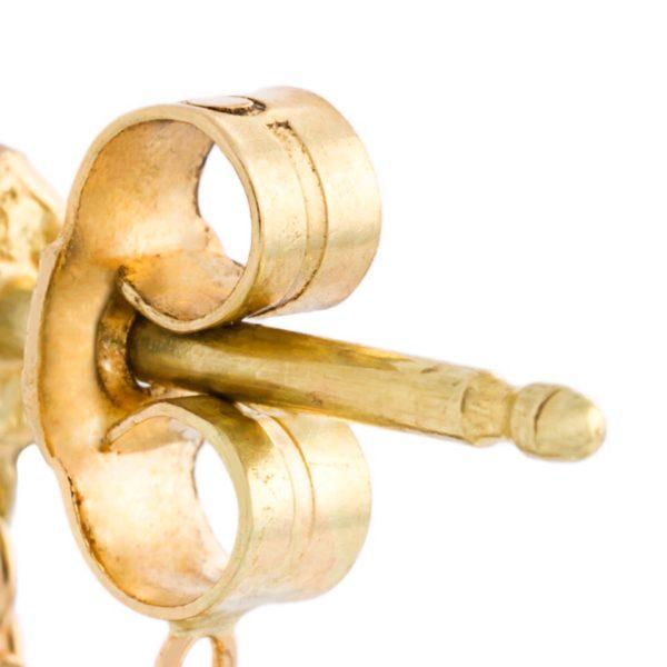 Blue Ombre Loop Chain Earrings