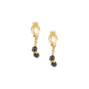 Black Diamond Loop Chain Earrings
