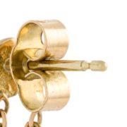 Black Diamond Loop Chain Earrings