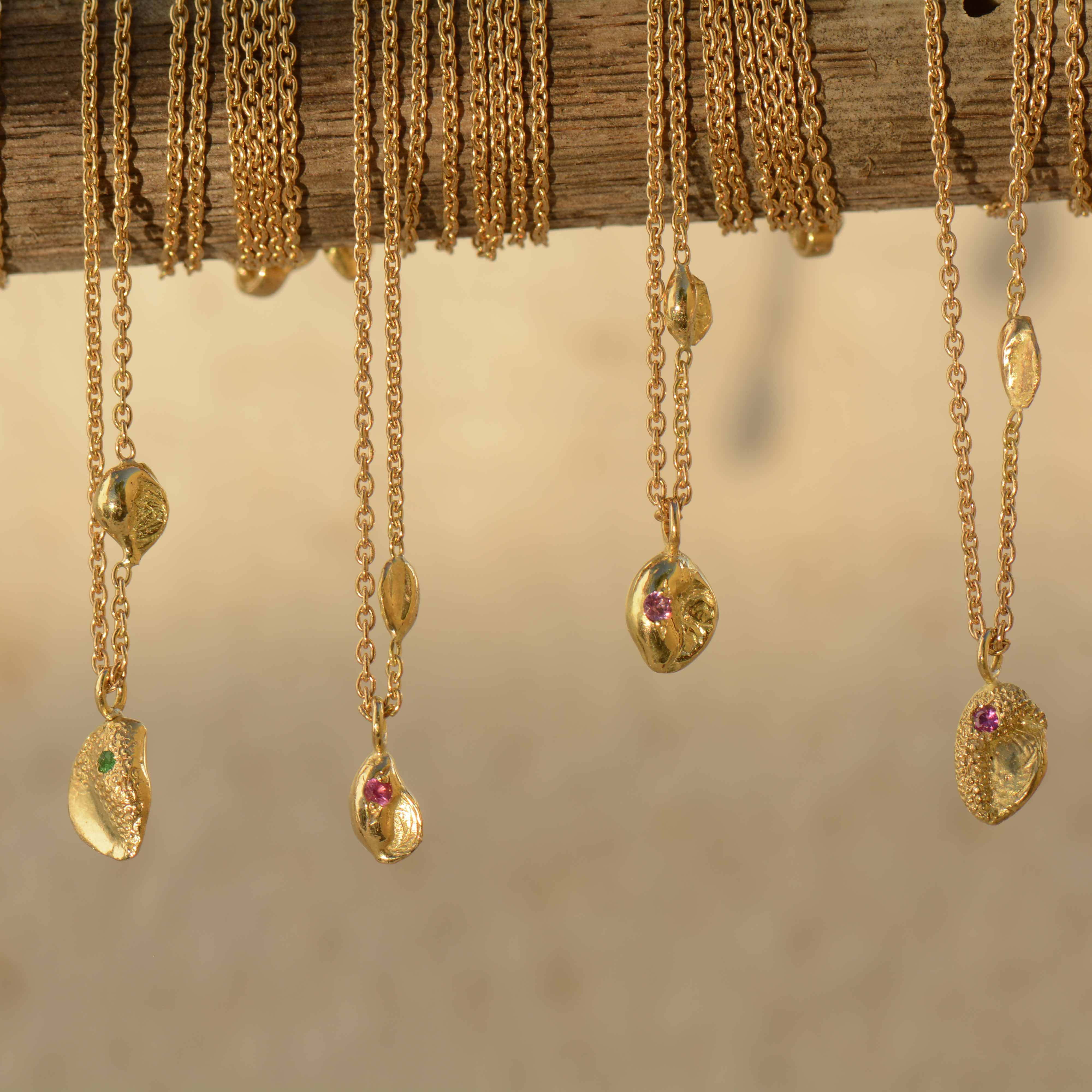 Natasha Collis Ibiza Fine Jewellery 18K gold pendants