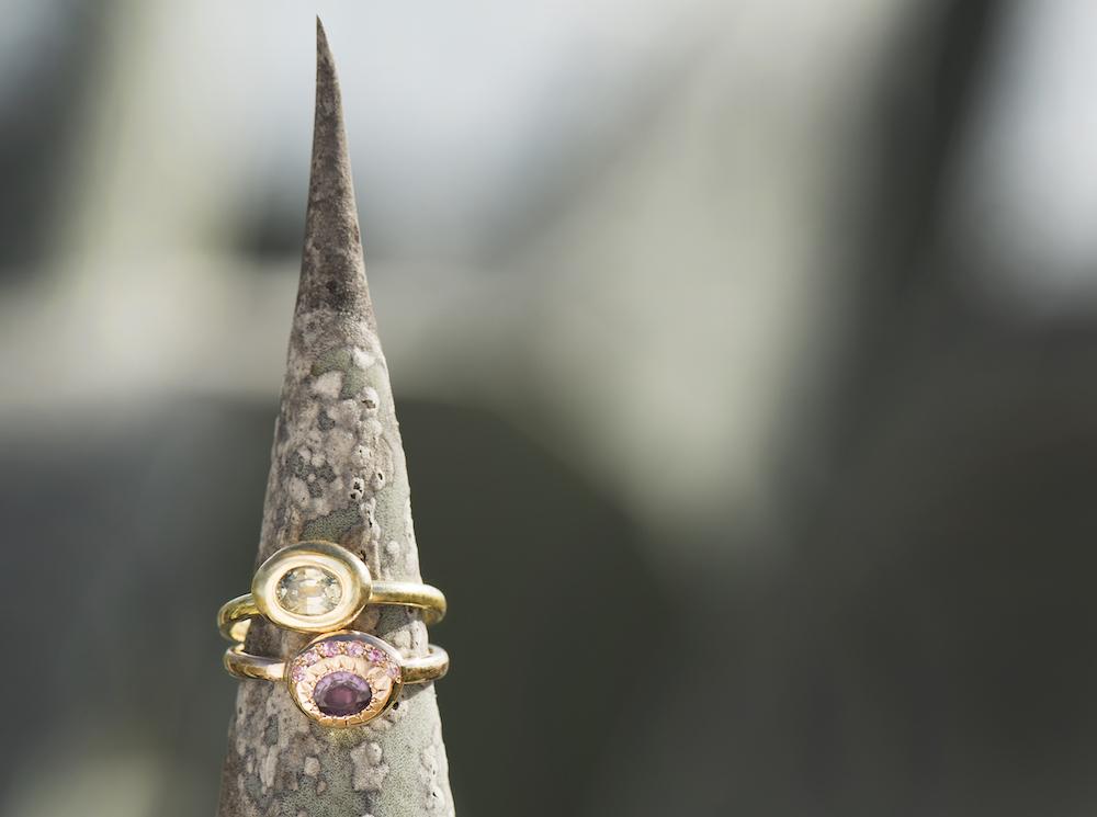 Natasha Collis Ibiza fine jewellery sapphire rings